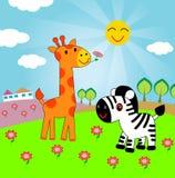 животные счастливые иллюстрация вектора