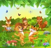 Животные танцуя и играя музыка Стоковые Фото