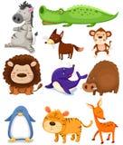 животные установили одичалой Стоковые Изображения