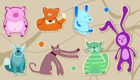 животные характеры Стоковая Фотография