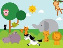 Животные /illustration Стоковые Изображения RF