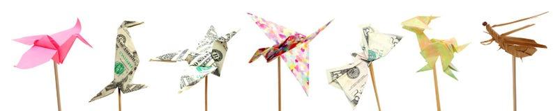 Животные Origami Стоковые Фото