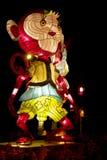 животный китайский зодиак обезьяны фонарика стоковые фотографии rf