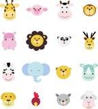 животный комплект иконы Стоковое Изображение RF