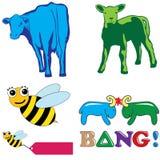 Животный комплект логоса Стоковые Изображения RF