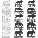 Животный комплект логоса стоковое изображение