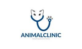 Животный логотип клиники Стоковое Изображение