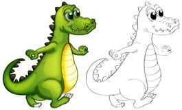 Животный план для идти аллигатора иллюстрация штока