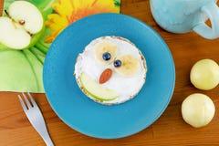 Животный сандвич блинчика стороны для детей ребенк завтракает Стоковые Фото