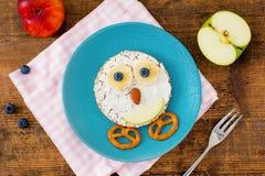 Животный сандвич блинчика стороны для детей ребенк завтракает Стоковая Фотография