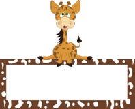 животный mammal giraffe шаржа одичалый стоковое изображение