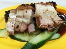 Живот свинины Siu зажаренный в духовке yuk Стоковое Изображение RF
