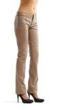 живот чуть-чуть женских ног джинсыов сексуальный Стоковые Изображения RF