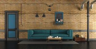Живущая комната в просторной квартире иллюстрация штока