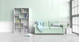 Живущая комната в счастливом дне Стоковая Фотография
