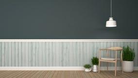 Живущая комната или ослабляет зону - перевод 3D Стоковая Фотография