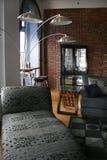 живущая комната просторной квартиры Стоковая Фотография