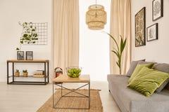 Живущая комната с креслом стоковое фото