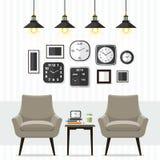Живущая комната с мебелью Стоковые Изображения