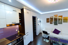 Живущая комната с скалами изображения Moher Стоковое фото RF