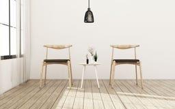 Живущая комната с стулом r классицистическая конструкция бесплатная иллюстрация