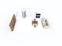 живущая комната 3d Стоковые Фотографии RF