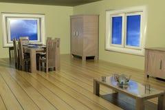 живущая комната 3d Бесплатная Иллюстрация