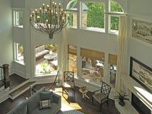 живущая роскошная комната 3 7 Стоковые Изображения
