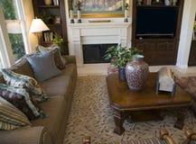 живущая роскошная комната Стоковое Фото