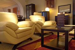 живущая роскошная комната Стоковая Фотография
