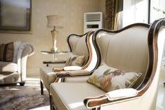 живущая роскошная самомоднейшая комната Стоковое Изображение
