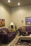 живущая самомоднейшая комната Стоковая Фотография