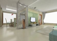 живущая самомоднейшая комната иллюстрация штока