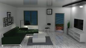 живущая самомоднейшая комната Иллюстрация вектора
