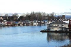 живущее река урбанское стоковое фото