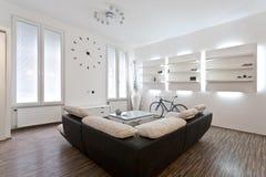 Живущий дизайн интерьера комнаты Стоковая Фотография