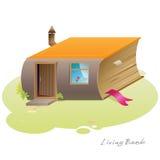 Живущий дом книги Стоковое Фото