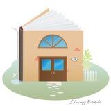Живущий дом книги Стоковое Изображение