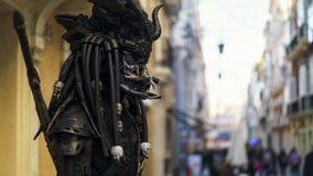 Живущий уличный исполнитель Кадис Испания статуи стоковое изображение rf
