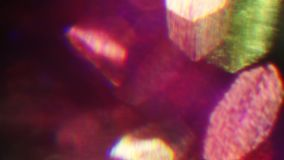 Живые запачканные светлые частицы накаляют хаотическими в космосе Ко видеоматериал