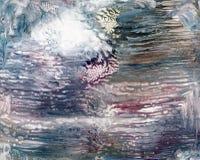 Жидкая акриловая предпосылка конспекта картины Стоковые Изображения
