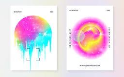 Жидкая динамика с формами и элементами бесплатная иллюстрация