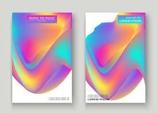жидкие формы Волнистая жидкостная предпосылка Яркая абстрактная концепция фона Ультрамодные волны градиента конструируют установл стоковое изображение