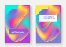 жидкие формы Волнистая жидкостная предпосылка Яркая абстрактная концепция фона Ультрамодные волны градиента конструируют установл стоковая фотография rf