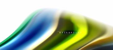 Жидкий жидкостный смешивать красит концепцию на свете - серой предпосылке, подаче кривой, ультрамодном абстрактном шаблоне плана  иллюстрация штока