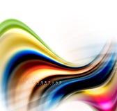 Жидкий жидкостный смешивать красит концепцию на свете - серые предпосылка, волна и линия текучести кривой свирли, ультрамодный аб иллюстрация штока