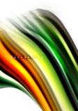 Жидкий жидкостный смешивать красит концепцию на свете - серые предпосылка, волна и линия текучести кривой свирли, ультрамодный аб иллюстрация вектора