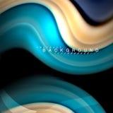 Жидкий смешивая дизайн предпосылки конспекта волны вектора цветов Красочные волны сетки Стоковые Изображения RF