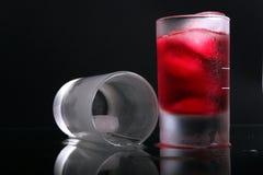 жидкий стеклянный красный цвет Стоковые Изображения