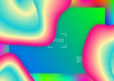 Жидкостная жидкость с динамическими элементами и формами E иллюстрация вектора